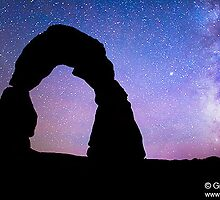 Delicate Arch with stars, Utah by Intern2