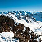 Mountains at lenzerheide in winter by peterwey