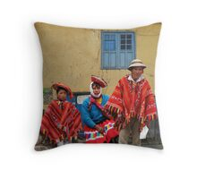 QUECHUA FAMILY - PERU Throw Pillow
