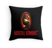 Mortal Kombat Logo Throw Pillow