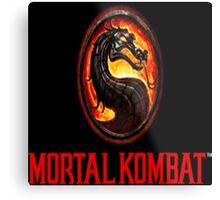 Mortal Kombat Logo Metal Print