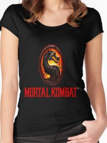 Mortal Kombat Logo Women's Fitted Scoop T-Shirt