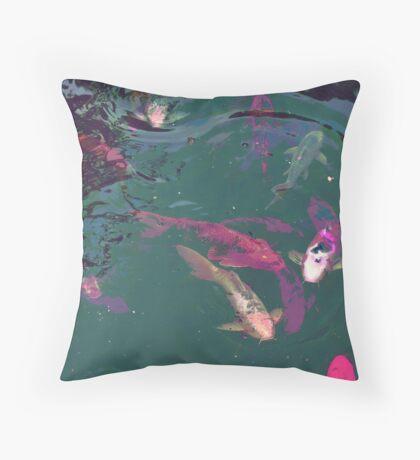 FISH POND Throw Pillow