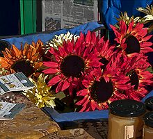 Sunflowers at the Farmers' Market by Linda Gregory