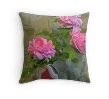 Roses In A Can 2 Throw Pillow
