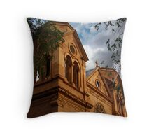 St. Francis Cathedral Throw Pillow