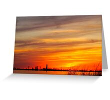 The Sun Sets In Southampton Greeting Card