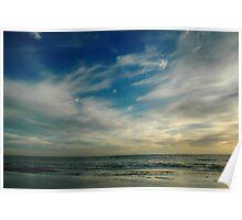 Breathe In Beach Sunset Sky Poster