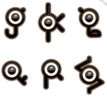 Unown Alphabet Sticker