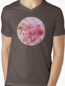 Pink blooms Mens V-Neck T-Shirt