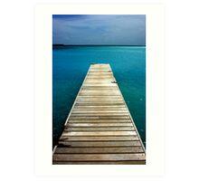 Pier to paradise Art Print