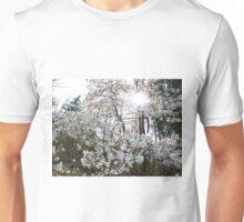 white on white Unisex T-Shirt