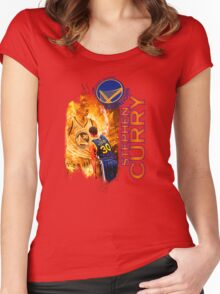 Stephen Curry #30 Women's Fitted Scoop T-Shirt
