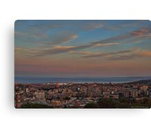 Catania at sunset Canvas Print
