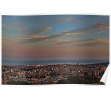 Catania at sunset Poster