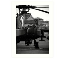 The Informous Apache Attack Helicopter Art Print