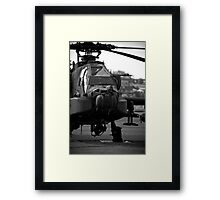 The Informous Apache Attack Helicopter Framed Print