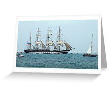 Tall Ships Atlantic Challenge 2009 - Kruzenshtern Greeting Card