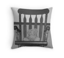 Chair Bear Throw Pillow