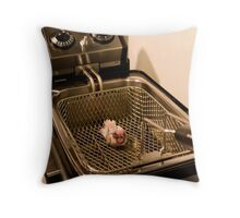 Out of the Flying Plan, Into the Fryer Throw Pillow