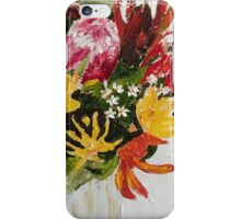 Aussie native impasto 1 iPhone Case/Skin
