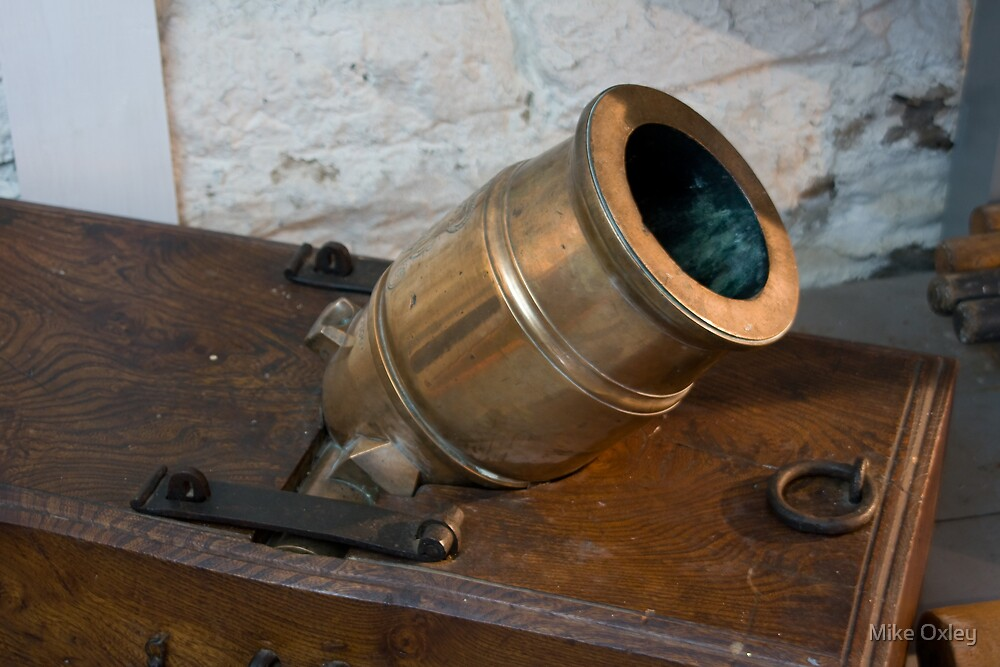 Brass Cannon, Fort Wellington, Prescott, Ontario by Mike Oxley