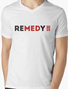 """REMEDY 2015 """"REMEDY 2015"""" LOGO Mens V-Neck T-Shirt"""