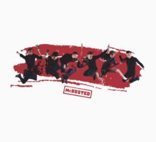 mcbusted red Baby Tee