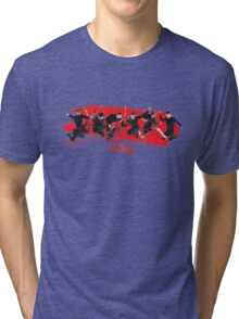 mcbusted red Tri-blend T-Shirt