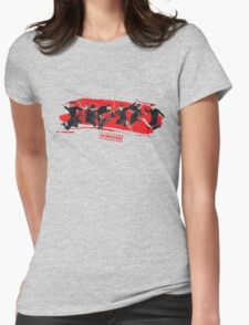 mcbusted red Womens Fitted T-Shirt