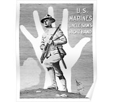 US Marines -- Uncle Sam's Right Hand Poster