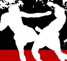 free form fighting Sticker
