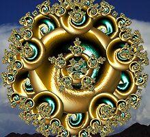 Mystic Golden Mandala by Hypnogoddess