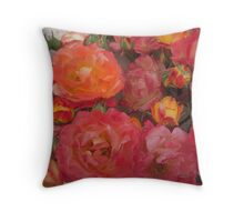 Joseph's Coat 6 - Florabunda Throw Pillow