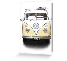 Volkswagen Kombi Newsprint © Greeting Card