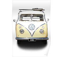 Volkswagen Kombi Newsprint © Poster