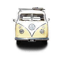 Volkswagen Kombi Newsprint  Photographic Print