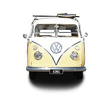Volkswagen Kombi Newsprint © Photographic Print