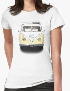 Volkswagen Kombi Newsprint © Womens Fitted T-Shirt