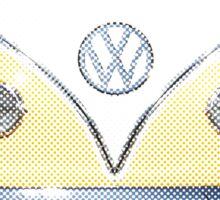 Volkswagen Kombi Newsprint  Sticker