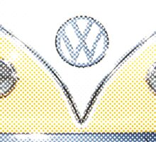 Volkswagen Kombi Newsprint © Sticker