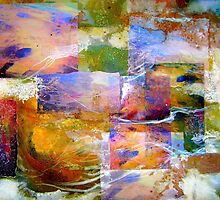 Collage with White Paint by Dana Roper