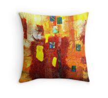 Yellow Mosaic Collage Throw Pillow