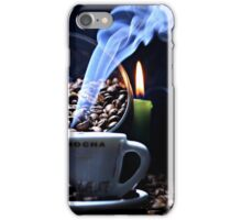 A cup of smoking hot coffee. iPhone Case/Skin