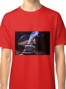 A cup of smoking hot coffee. Classic T-Shirt