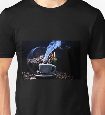 A cup of smoking hot coffee. Unisex T-Shirt