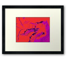 Space Series : Gemini EVA 1 Abstract Red [#2] Framed Print