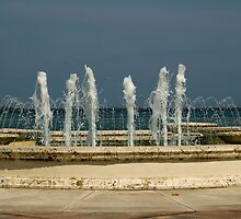 Fountain with a View by Donna Adamski