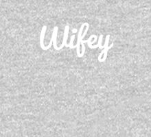Wifey Bridal Shower Wedding Gift Womens Fitted T-Shirt