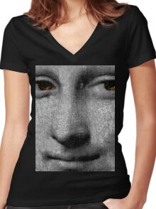 face off two Women's Fitted V-Neck T-Shirt